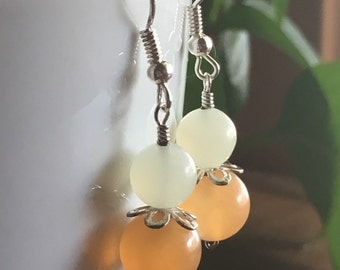 Carnelian and Serpentine Earrings