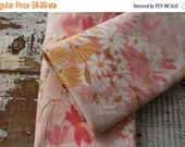 30%OFF SUPER SALE- Vintage Floral Fabric-  Reclaimed Vintage Bed Linens Fabric