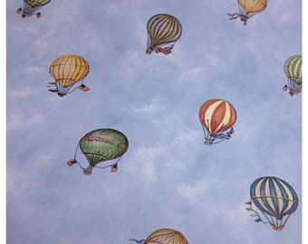 40% FLASH SALE- Hot Air Balloon Wallpaper-Scrapbooking-gift wrap-decor