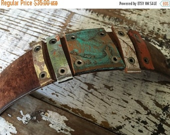 40% FLASH SALE- Custom Leather Cuff-Glimpses Collection-Hand Painted-