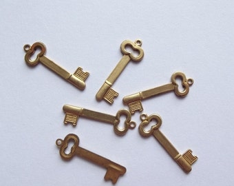 On Sale Vintage brass  key charms