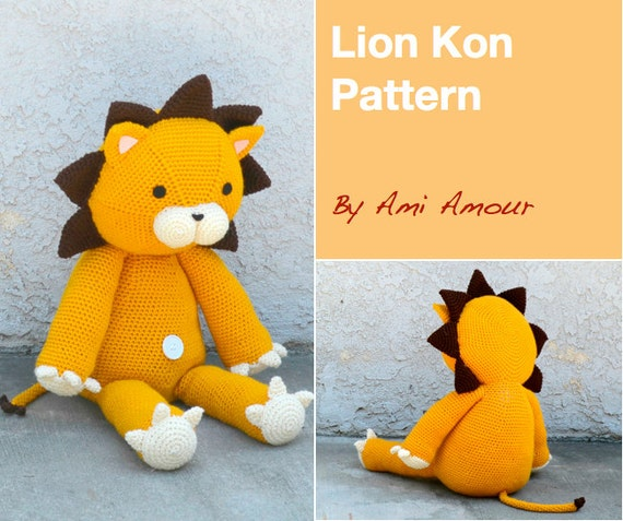 Amigurumi Reindeer Pattern Free : Lion Pattern Lion Amigurumi Pattern Kon Plush Giant Lion