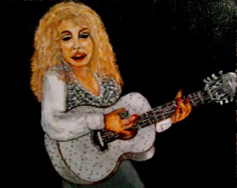 Dolly Parton, Print of an Original Oil Painting, dolly parton, Figure Painting, music