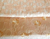 Ivory gold embroidered silk fabrics, see listing for sizes