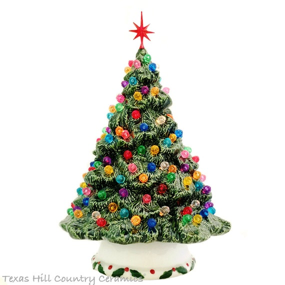 Ceramic Christmas Tree Shenandoah Pine Tabletop Tree 10 Inches