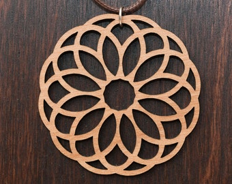 Filigree Wood Necklace
