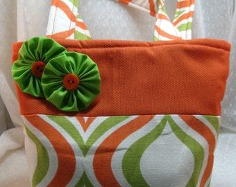 Mini Tote Bag, Hand Bag, Retro Colors, Lunch Bag, School Bag, Device Bag, Young Girls Bag, Teen Bag, Reusable Gift Bag, FREE SHIPPING