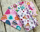 Little girls' prints NWT pocket sized reversible Bible covers. Ballerinas, princesses, hearts and owls.