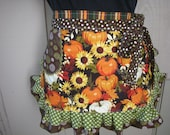 Womens Aprons - Fall and Thanksgiving Aprons - Pumpkin Aprons - Etsy Aprons - Annies Attic Aprons - Fall Pumpkin Aprons - Orange Aprons