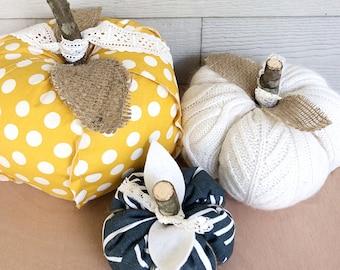 Fabric Pumpkin, Decorative Pumpkins, Sweater Pumpkin, Decorative Pumpkin, Fall Decor, Autumn Decor
