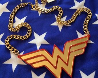 Wonder Woman Acrylic Necklace