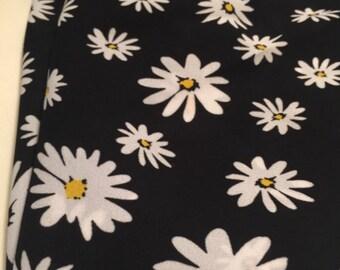 Georgette Daisy Print  Fabric 2 Yards