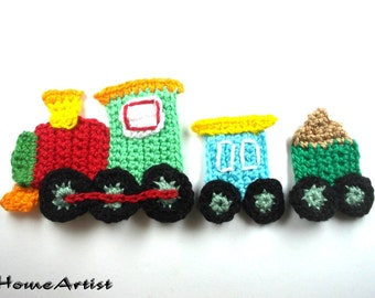 Crochet Applique Train