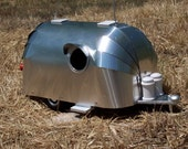 Vintage Aluminum Airstream birdhouse