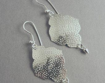 Sterling Silver Dangling Reflections Earrings