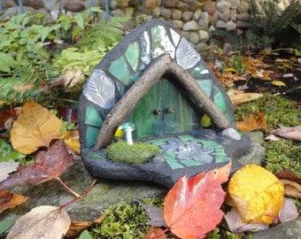 Fairy Door, 3D Garden Sculpture, Stained Glass Mosaic, Diorama, Fairy House, Woodland Sculpture, Home Decor, Faerie Portal, The Forest Floor