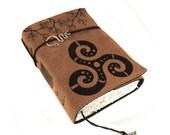 Triskele, Celtic Journal, Leather, Handmade, Celtic Knot