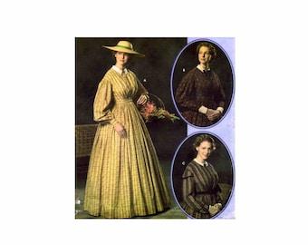 Civil War Day Dress Historian Martha McCain Reenactment Simplicity 4551 Sewing Pattern Size 8 - 10 - 12 - 14 UNCUT