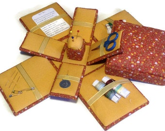 Etui Sewing Kit Needlework Box Calico