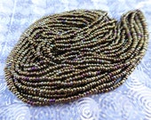 Size 11 Iris Brown Colored Seed Beads - Complete Hank