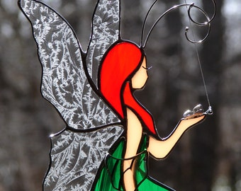 Stained Glass Forest Fairy