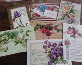 Seven Victorian Era Postcards. Lovely Antique Ephemera. lot 2.