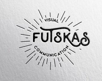 custom premade logo hipster ++ vintage americano ++ artist business photographer photography designer architect label ++ handmade design