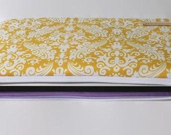 "Toshiba Kirabook Cover 12"" Lenovo Yoga Pro Sleeve HP Chromebook 13"" Laptop Sleeve - Yellow Damask"