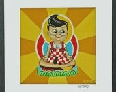 Big Boy Achieves Enlightenment signed Giclee print