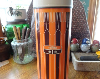 Large Vintage Insulated Beverage Thermos