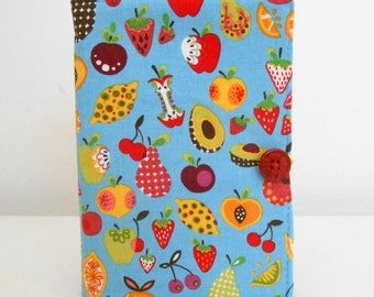 Blue Mini List Taker Fruit and Veggies List Taker with Note Pad and Pen