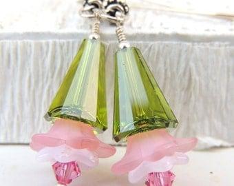 SPRING BLOOMS Handmade Dangle Earrings