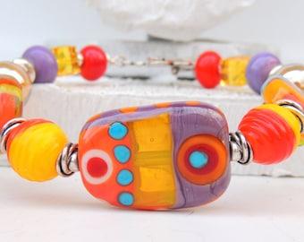 CHARISMATIC Handmade Lampwork Bead Bracelet