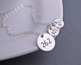 26.2 Necklace, Marathon Jewelry,  Personalized Marathon Necklace, Athletic Jewelry, Runners Jewelry, Gift for Runner