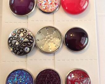 18-20mm Handmade Noosa Snap Buttoners - #51