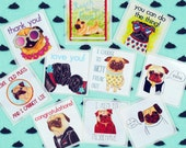 Pug Planner Stickers, Love Stickers, Envelope Seals, Hipster Stickers, Dog Lover Gift,College Student Gift,Cool Inspirational Quote Stickers