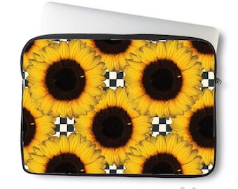 Sunflowers, Laptop Sleeve, Laptop bag, laptop case, neoprene, sleeve for computer, Macbook case, Laptop Cover, Sunflower, Art on Laptop case