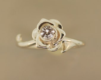 Double Thorned Rose Ring
