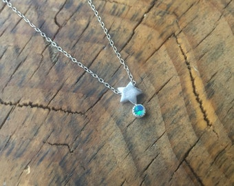 Stardust Opal Necklace