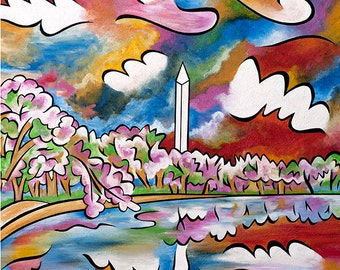 Tidal Basin Bloom 1 - 11x14 matted print by Joel Traylor