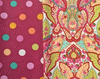 Tula Pink Slow and Steady Pink Free Spirit Fabrics Half Yard Bundle