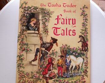 The Tasha Tudor Book of Fairy Tales, Vintage Over Sized Platt & Munk, Illustrated