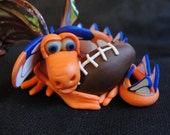 Bronco Football Dragon - OOAK ELEMENTAL DRAGON