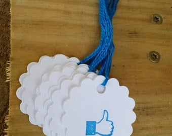 "You will ""LIKE "" these Facebook inspired thumb up tags"