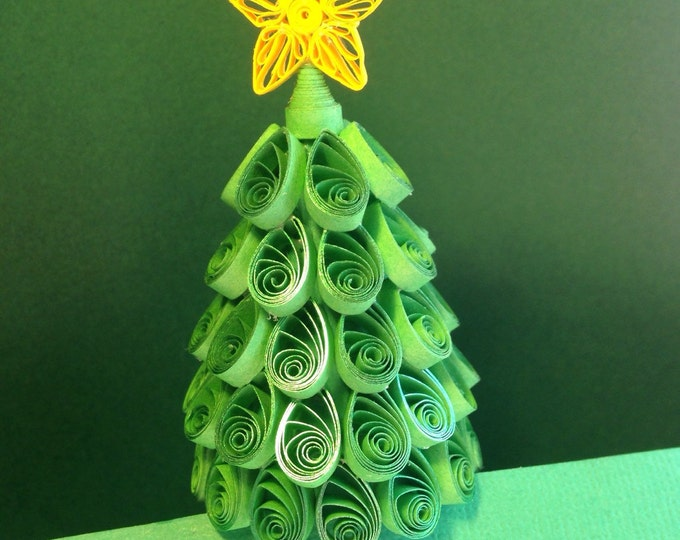 Quilling, Glistening Green, Miniature Christmas Tree
