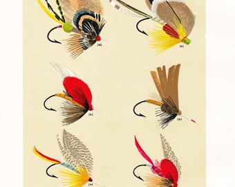 fly fishing print from an 1892 book, printable digital download no. 937