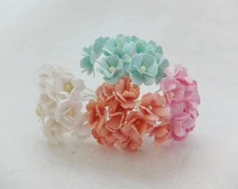 Mixed colors paper hydrangea - mixed colors paper flowers - assorted colors mulberry paper flowers
