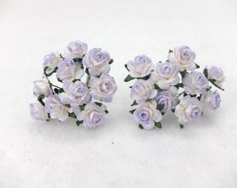 20 lavender paper roses (15mm)