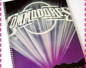 SALE 40% OFF--- COMMODORES Midnight Magic Recycled / Upcycled Retro Record Album Cover Journal Notebook - Eco Friendly - Vintage Circa 1979