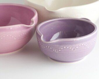 READY TO SHIP - Batter Bowl Set - Nesting Mixing Bowls - Dawn colorway